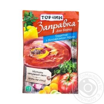Заправка Торчин томатная с болгарским перцем для первых и вторых блюд 240г - купить, цены на Novus - фото 1