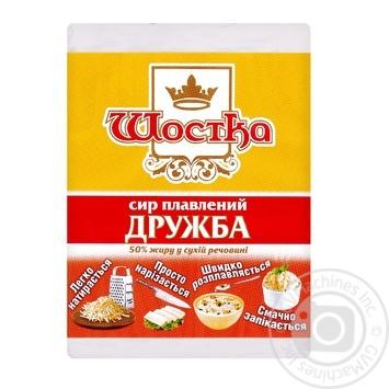 Сыр Шостка Дружба плавленый 50% 90г - купить, цены на Ашан - фото 1