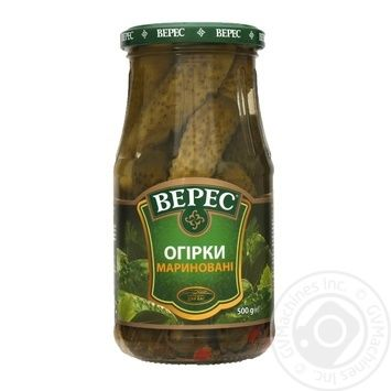 Veres Pickled Cucumbers 500g - buy, prices for Novus - image 1