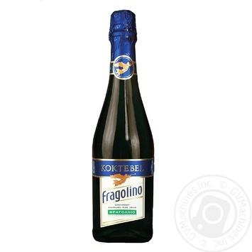 Винний напій Коктебель Фраголіно газований білий напівсолодкий 6,9% 0,75л - купити, ціни на CітіМаркет - фото 1