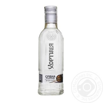 Водка Хортиця Серебряная прохлада особая 40% 0,2л - купить, цены на Фуршет - фото 1