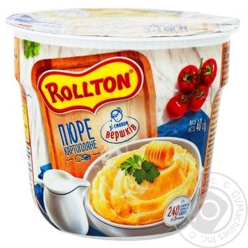 Пюре Rollton картофельное со вкусом сливок 40г