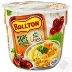 Пюре Rollton картопляне зі смаком курки 40г