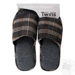 Комнатные тапочки Twins HS-VL Коричневые мужские размер 42/43