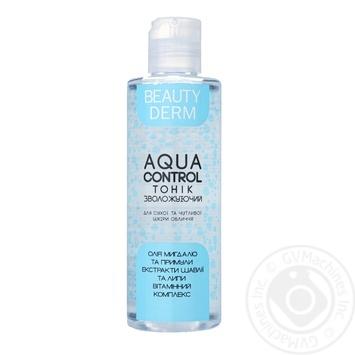 Тоник Beauty Derm Aqua Control Увлажняющий для сухой и чувствительной кожи лица 200мл
