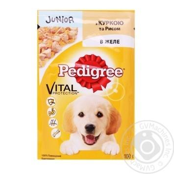 Корм для щенков Pedigree с курицей в желе 100г