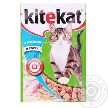 Корм для взрослых котов Kitekat с лососем в соусе 100г - купить, цены на СитиМаркет - фото 1