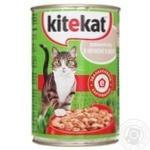 Корм для котів Kitekat домашній обід з качкою в желе 400г
