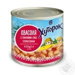 Khutorok beans in tomato sauce 410g