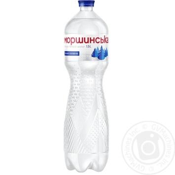 Минеральная вода Моршинская природная сильногазированная 1,5л - купить, цены на Novus - фото 1