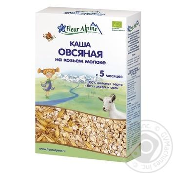 Каша Fleur Alpine овсянная на козьем молоке для детей с 5 месяцев 200г - купить, цены на Восторг - фото 1