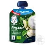 Пюре Gerber Organic Яблуко з йогуртом і злаками 90г
