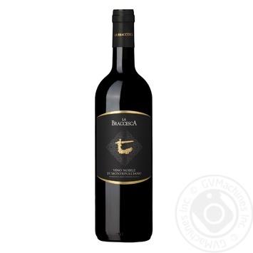 Вино La Braccesca Nobile Di Montepulciano красное сухое 13,5% 0,75л - купить, цены на СитиМаркет - фото 1