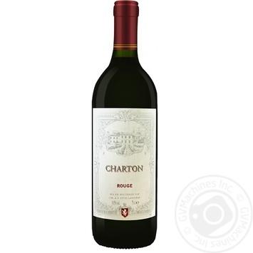 Вино Charton Rouge красное сухое 10,5% 0,75л