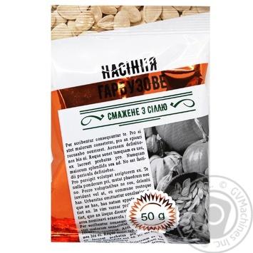 Семена тыквы жареные соленые 50г - купить, цены на Таврия В - фото 1