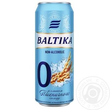Пиво Балтика №0 безалкогольное нефильтрованое ж/б 0,5% 0,5л - купить, цены на Метро - фото 1