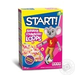 Start! With Strawberry And Banana Taste Rings Dry Breakfast 250g