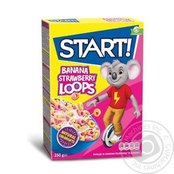 Сухі сніданки Start! Кільця зі смаком полуниці та банану 250г - купити, ціни на Novus - фото 1