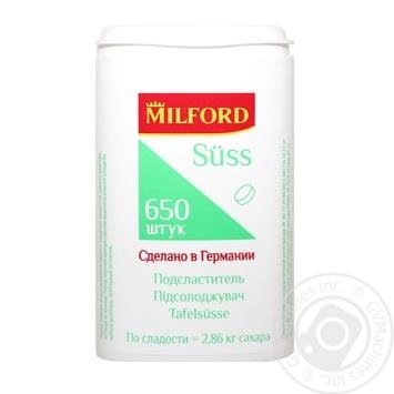 Підсолоджувач MILFORD Süss (замінник цукру, таблетки) 650шт - купити, ціни на Novus - фото 1