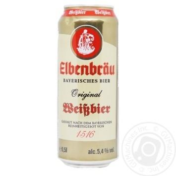 Пиво пшеничное Elbenbrau original weissbier нефильтрованное 5.4% 0.5л - купить, цены на Таврия В - фото 1