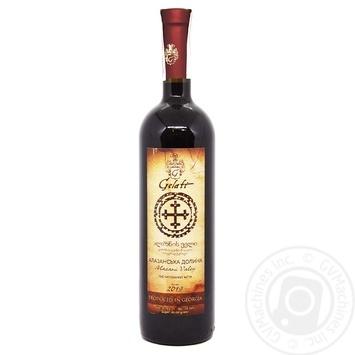 Gelati Alazani Valley red semi-sweet wine 10-13% 0,75l - buy, prices for Furshet - image 2