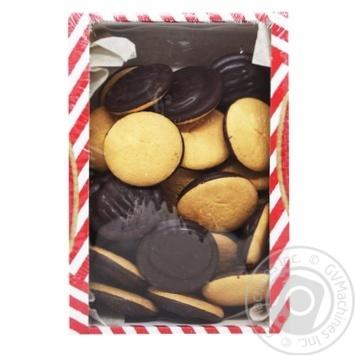 Печенье Делиция в черном шоколаде со вкусом апельсина 500г - купить, цены на Таврия В - фото 1