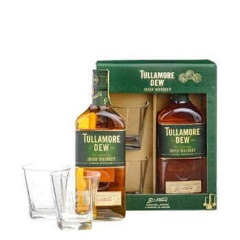 Віскі Tullamore Dew Original 5 років 40% 0.7л + 2 склянки - купити, ціни на МегаМаркет - фото 1