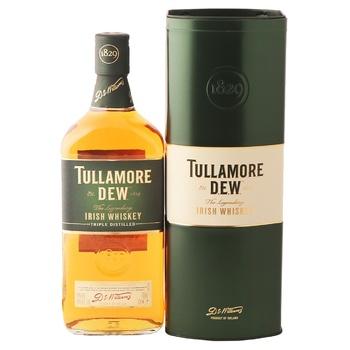 Віскі Tullamore Dew 40% 0,7л в металевій коробці - купити, ціни на МегаМаркет - фото 1