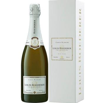 Шампанське Louis Roederer Demi Sec Carte Blanche біле напівсухе 12% 0.75л - купити, ціни на Восторг - фото 1