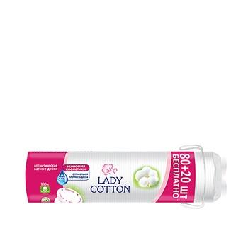 Lady Cotton Face Cotton Disks 100pcs - buy, prices for MegaMarket - image 1