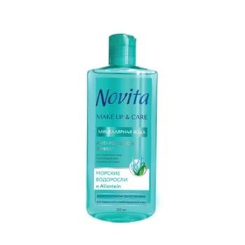 Мицеллярная вода Novita Make Up&Care Anti-pollution эффект Морские водоросли и Allantoin 200мл - купить, цены на Фуршет - фото 1