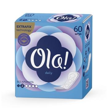 Ежедневные прокладки Ola! Daily 60шт - купить, цены на Ашан - фото 1