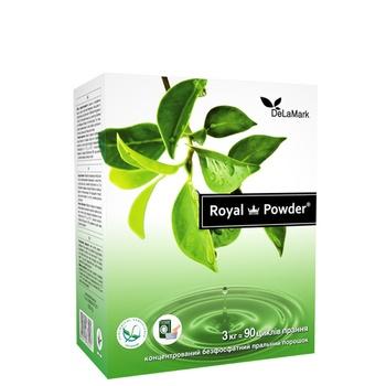 Порошок стиральный Delamark Royal Powder универсальный концентрированный бесфосфатный 3кг - купить, цены на СитиМаркет - фото 1
