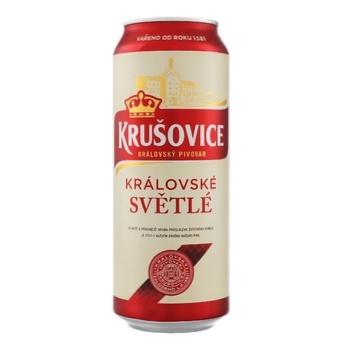 Пиво Krusovice Svetle светлое 4,2% 0,5л - купить, цены на СитиМаркет - фото 1