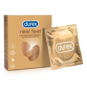 Презервативы Durex RealFeel для естественных ощущений 3шт - купить, цены на Метро - фото 1