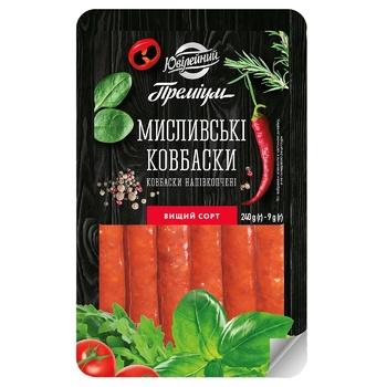 Yuvileyniy Premium Myslyvski Semi-Smoked Sausage 240g - buy, prices for CityMarket - photo 1