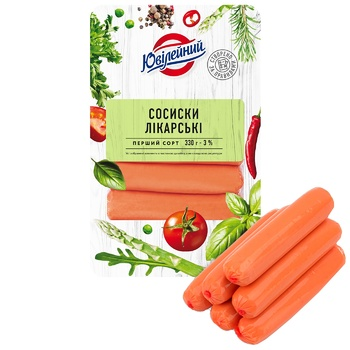 Yuvileyniy Doctor Boiled Sausages 330g - buy, prices for Furshet - image 1