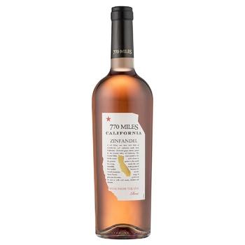 Вино 770 Miles Зинфандель розовое сухое 10% 750мл - купить, цены на Космос - фото 1