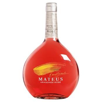 Вино Sogrape Vinhos Mateus Aragognes Rose розовое полусладкое 10.5% 0.75л - купить, цены на СитиМаркет - фото 1
