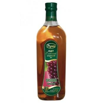 Уксус Руна Элитный винный красный 6% 0,5л - купить, цены на Ашан - фото 1