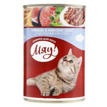 Myau! Fish Platter In Delicate Sauce Cat Food 415g