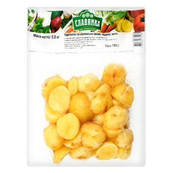Potato Slavjanka Country style fresh peeled washed 500g - buy, prices for Auchan - image 2