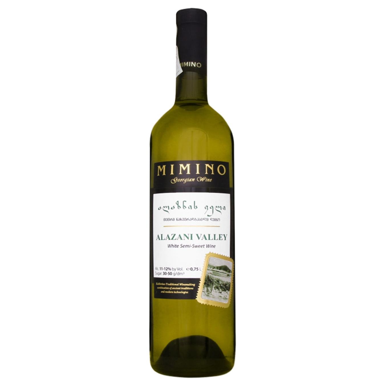 Вино Mimino Алазанская долина белое полусладкое 0,75л