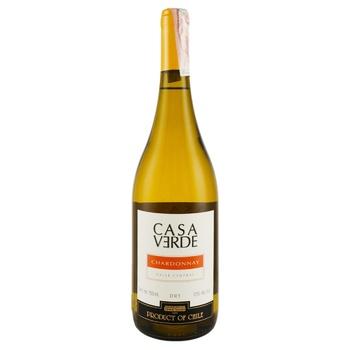 Вино Casa Verde Chardonnay біле сухе 13,5% 0,75л - купити, ціни на CітіМаркет - фото 1