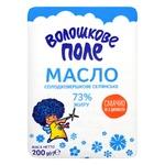 Масло Волошкове Поле Селянське солодковершкове 73% 200г Україна - купити, ціни на Фуршет - фото 1