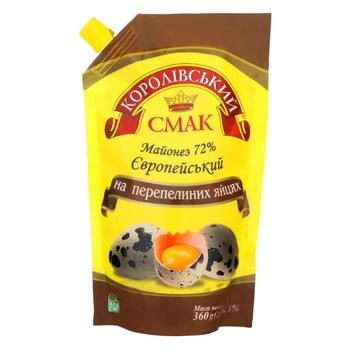 Korolivskyi Smak European With Quail Eggs Mayonnaise 72% 360g