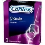 Презервативы Contex Classic классические латексные с силиконовой смазкой 3шт