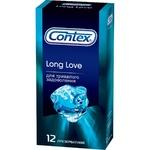 Презервативи Contex Long Love латексні для тривалого задоволення з анестетиком і силіконовою змазкою 12шт