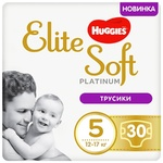 Трусики-підгузки Huggies Elite Soft Platinum Mega 5 12-17кг 30шт