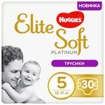 Трусики-подгузники Huggies Elite Soft Platinum Mega 5 12-17кг 30шт